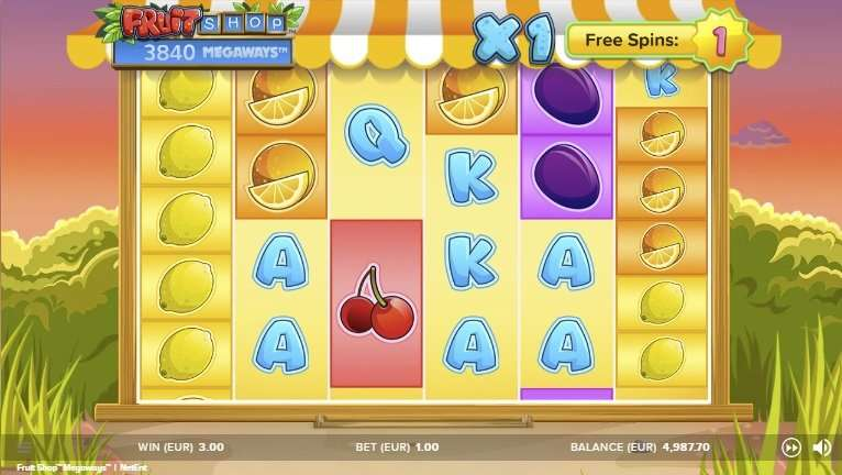 Gratis spins Fruit Shop Megaways