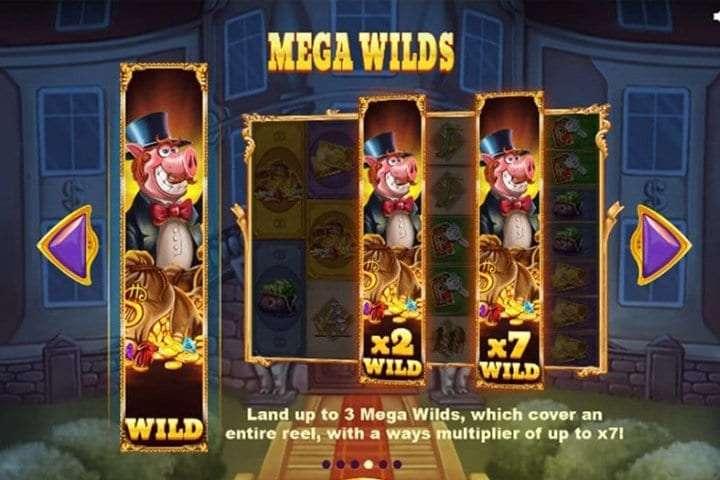 Piggy Riches Megaways wilds